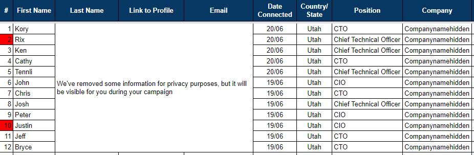 tracking spreadsheet example 1